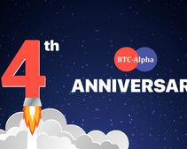 4 years - mission: possible! BTC-Alpha's celebrating and handing out tokens